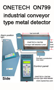 Industrial conveyor type tunnel metal detector, metal detector head, mining metal detector