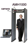 Walk-through metal detector with a camera, 18-zone alarm walk-through metal detector